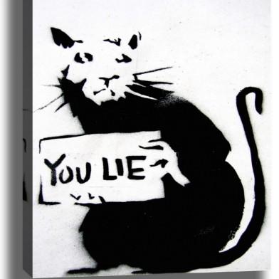 YOU LIE (CC-Banksy)