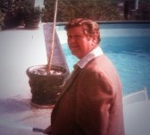 Dad at Joe Bluth's pool