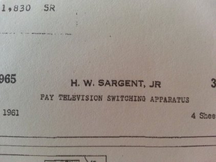 One of Dad's PPV patents
