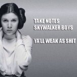 Take notes, Skywalker Boys