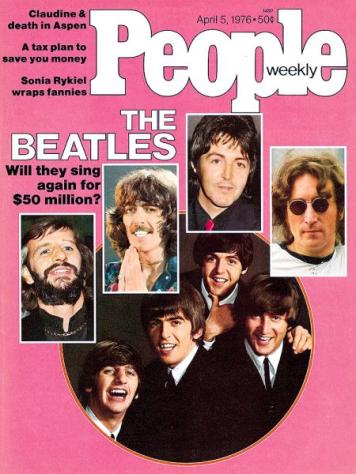 Cover- People Mag Beatles & Dad April '76