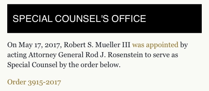 U.S. Department of Justice: Special Counsel's Office