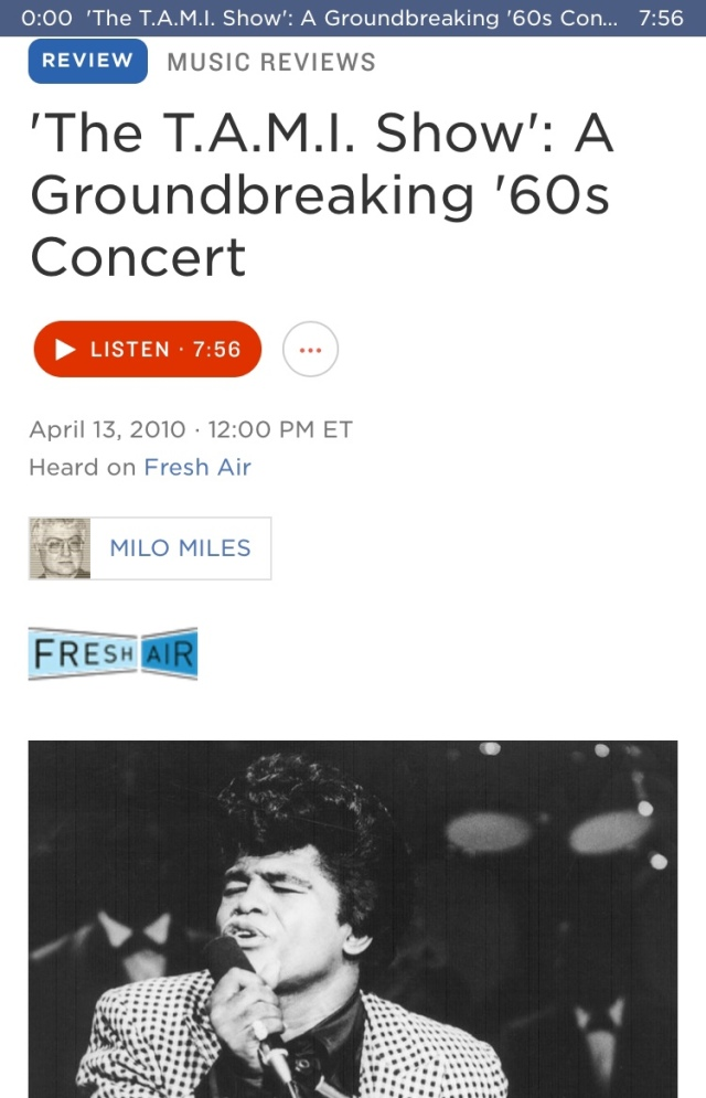 The great Milo Miles ✯ 'The T.A.M.I. Show': A Groundbreaking '60s Concert