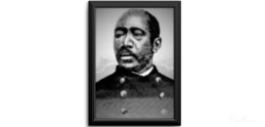 """Martin R. Delany, an abolitionist whom Lincoln called """"this most extraordinary and intelligent black man."""" Delany visited the White House early in 1865 and became the army's first black commissioned officer. (Ohio Historical Society)"""